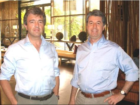 Andrea Goretti con Francesco Mozzetti di Mediaset