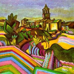 """Nella foto, """"Prades, Il paese (Prades, el poble)"""", di Joan Mirò, estate 1917, Museo Solomon R. Guggenheim, New York"""