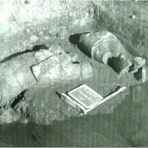 Nella foto, il ritrovamento dei Giganti di Monte Prama