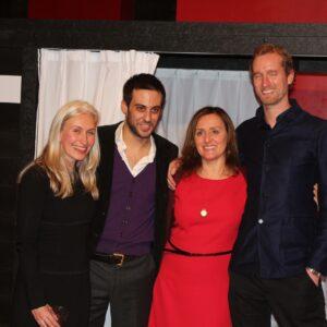Nella foto, da sinistra: Corinne De Korve, Alessandro Spreafico, Elena Avesani e Wouter Kalis