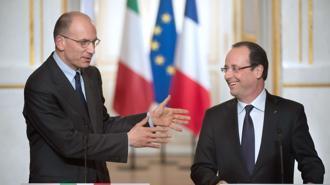 Enrico Letta e Francois Hollande