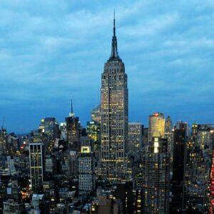 Manhattan con in primo piano l'Empire State Building