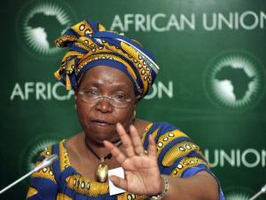 La presidente della Commissione dell'Unione Africana, la sud africana Nkosazana Dlamini-Zuma