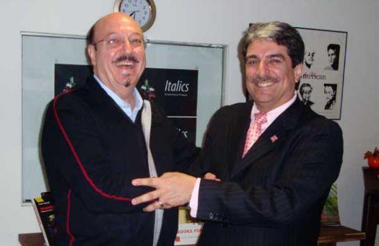 Vincenzo Marra, presidente-fondatore di ILICA con il Prof. Anthony Tamburri, Dean del Calandra Italian America Institute del Queens College, CUNY (Foto I-Italy)