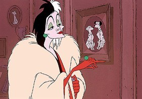 Crudelia Demon, famoso personaggio del film di Disney
