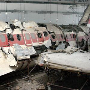 I resti ritrovati del DC9 dell'Itavia esploso sui cieli di Ustica il 27 giugno 1980
