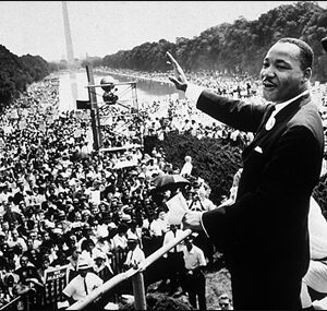 28 agosto 1963: Martin Luther King al Lincoln Memorial di Washington