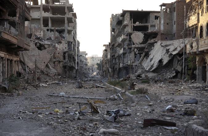 Una immagine delle distruzioni in Siria causate dalla guerra civile