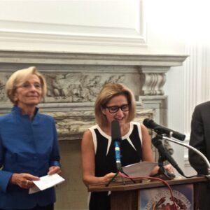 Il ministro degli Esteri, Emma Bonino, il console generale, Natalia Quintavalle e l'ambasciatore, Claudio Bisogniero