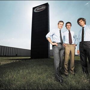 Da sinistra, i fratelli Paolo, Luca e Guido Barilla