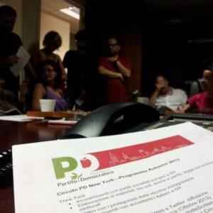 Una recente riunione del Circolo PD di New York