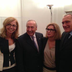 Al Consolato di New York, da sinistra: la deputata Fucsia Nissoli, il senatore Renato Turano, il console generale Natalia Quintavalle e il presidente del Senato Pietro Grasso