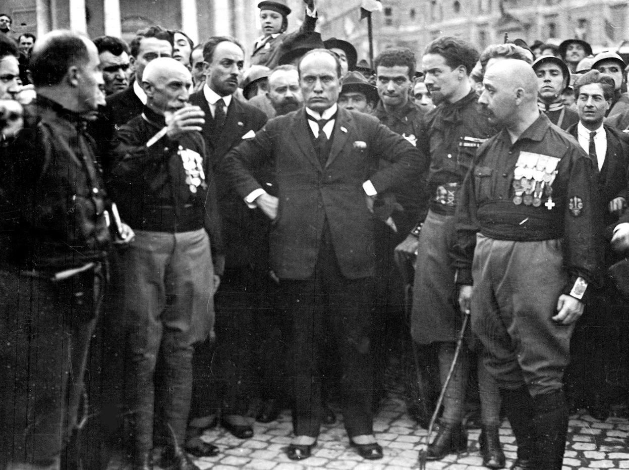 28 ottobre 1922: Benito Mussolini durante la marcia su Roma