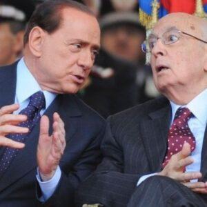 Il leader del Pdl Silvio Berlusconi con il Presidente della Repubblica Giorgio Napolitano