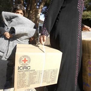 Rifugiati siriani in Libano soccorsi dalla Croce Rossa Internazionale