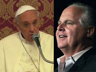 Papa Francesco e Rush Limbaugh