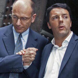 Il premier Enrico Letta col sindaco di Firenze Matteo Renzi, ora anche leader del PD