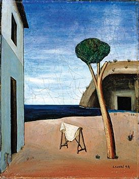 """Carlo Carrà """"Pino sul mare"""",1921 olio su tela, cm 68 x 52 (Collezione privata)"""