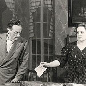 Eduardo De Filippo con la sorella Titina nella parte di Filumena Marturano