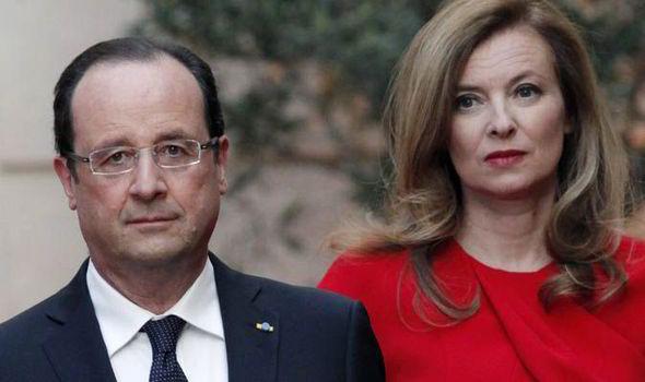 Francois Hollande e Valérie Trierweller