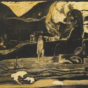 Paul Gauguin (French, 1848–1903). Maruru (Offerings of Gratitude) from the suite Noa Noa (Fragrant Scent). 1893-94. Woodcut, comp. 8 1/16 x 14? (20.5 x 35.5 cm). Sterling and Francine Clark Art Institute, Williamstown, Mass. Photo credit: © Sterling and Fr
