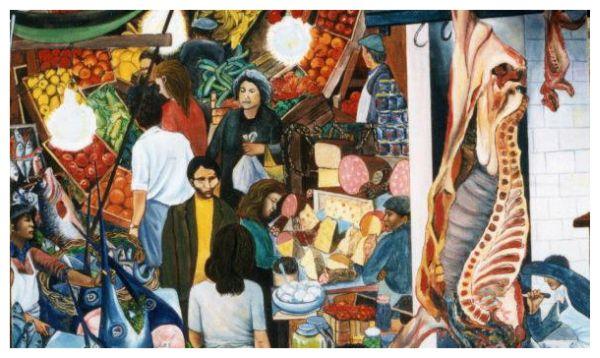 """Immagine del famoso dipinto di Renato Guttusu """"La Vucciria"""" (1974)"""