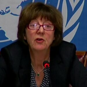 Kirsten Sandberg dell'UN Committee on the Rights of the Child (CRC)