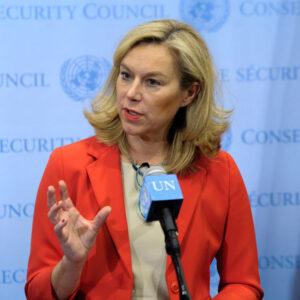 Sigrid Kaag, coordinatrice speciale della missione congiunta dell'Organizzazione per la Proibizione delle Armi Chimiche (OPAC) e delle Nazioni Unite. UN Photo/Evan Schneider