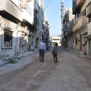 Strada deserta di Baba Amer, Homs, Siria, giugno 2013. Foto: WFP/Laure Chadraoui