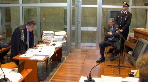 Il magistrato Nino Di Matteo e l'ex ministro degli Interni Nicola Mancino