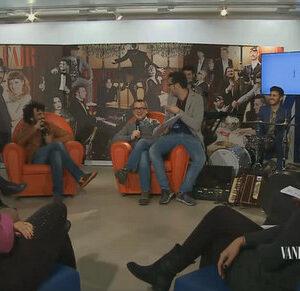 Lo studio televisivo allestito da Vanity Fair per le dirette web durante il Festival