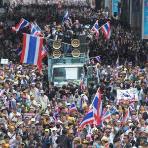 Una manifestazione anti governativa a BangKok