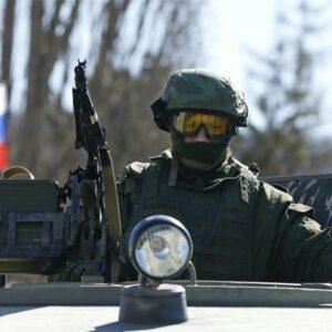 Un soldato russo in Crimea