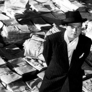 Orson Wells nella parte di Citizen Kane, film che affronta il rapporto incestuoso tra stampa e potere