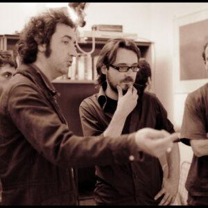 Paolo Sorrentino and Andrea Lodovichetti on set. Photo: Ferran Paredes