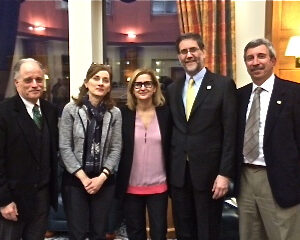 R.D'Argenio, Seton Hall Un. Law Sch.'s Board of Visitors; G.Romani, Dir., The Charles & Joan Alberto Italian Studies Inst.; N.Quintavalle, Consul General; A.Bartoli, Dean, Sch of Diplomacy&International Relations; J.P.Guasconi, Sr Dir of Principal Gifts