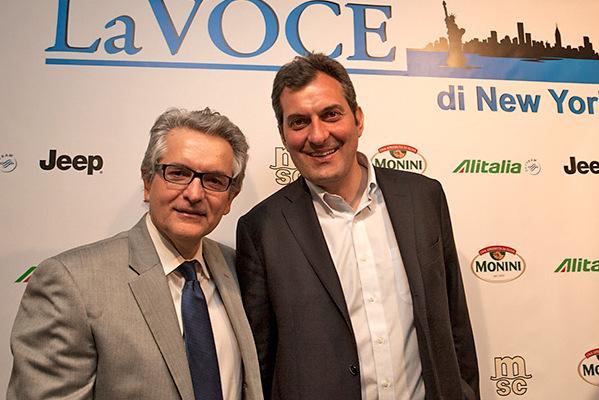...con Mario Calabresi (Foto: Stefania Zamparelli)
