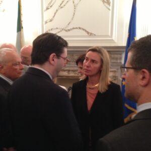 Il ministro degli Esteri Federica Mogherini incontra gli italiani di New York al Consolato