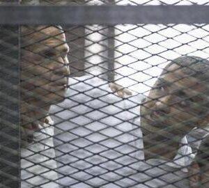 I tre giornalisti di Al Jazeera - Foto: AFP