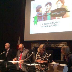 Da sinistra Fabio Troisi, Berardo Paradiso, Natalia Quintavalle e Dianne Hales