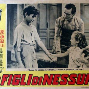 La locandina de I figli di nessuno, film con Amedeo Nazzari uscito nel 1951, proprio negli anni dell'ultima grande ondata migratoria dell'Italia verso l'America