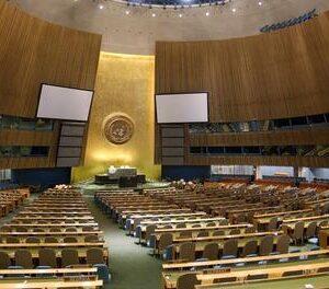La sala dell'Assemblea Generale dell'ONU che riapre la prossima settimana dopo un restauro durato due anni (Foto Onu, Sophia Paris)