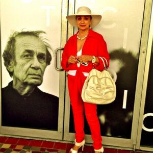 Maria Rand Catalano alla mostra dell'amico Vito Acconci