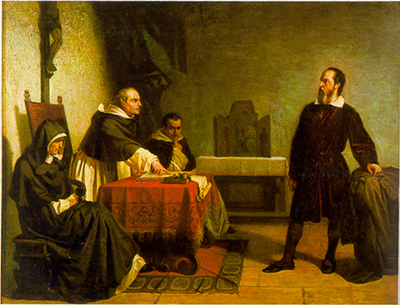"""Galileo facing the Roman Inquisition"" di Cristiano Banti. Con licenza Public domain tramite Wikimedia Commons"