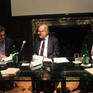 Joseph Luzzi, Robert Viscusi e Anthony Tamburri all'Istituto Italiano di Cultura