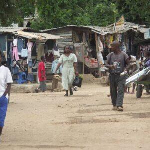 Il campo rifugiati di Buduburam che già nel 2005 ospitava più di 40,000 rifugiati dalla Liberia