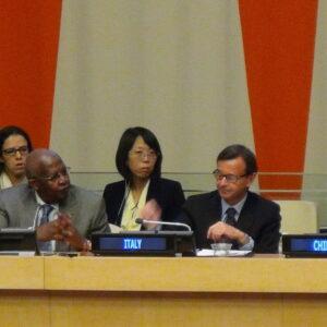 Incontro Leading urban transformations tenutosi all'ONU in occasione della giornata delle città mondiali