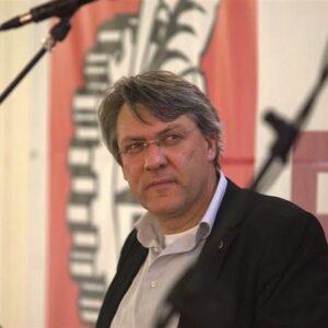 Maurizio Landini, leader della Fiom, il sindacato dei metalmeccanici
