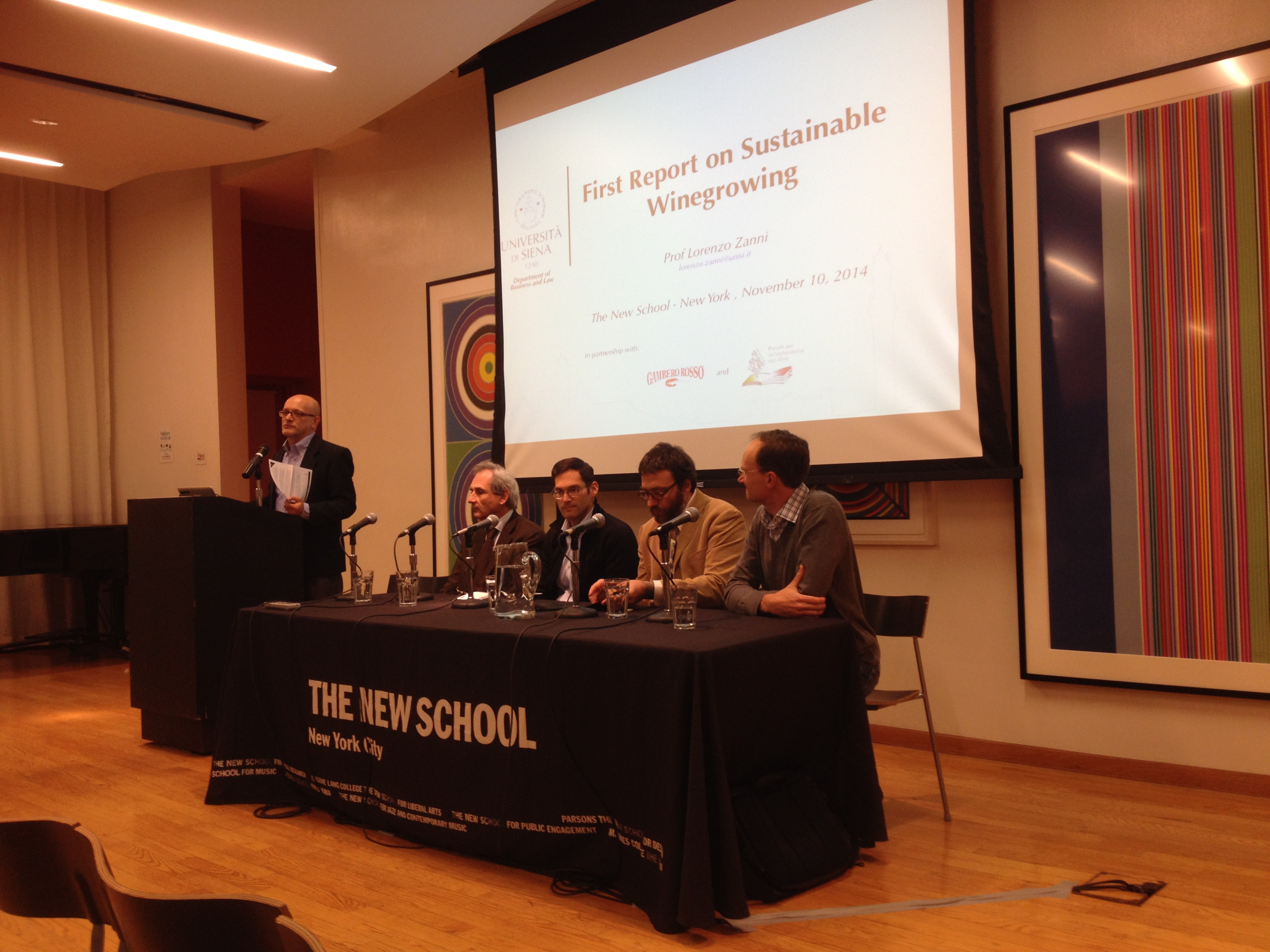 La presentazione del Rapporto alla New School for Public Engagement di New York.