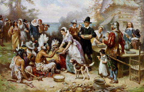 The First Thanksgiving, Jean Leon Gerome Ferris.